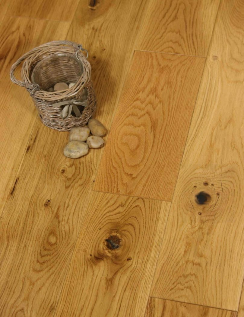 150mm Lacquered Solid Oak Flooring