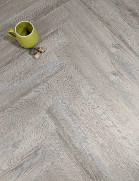 Grey Parquet laminate flooring