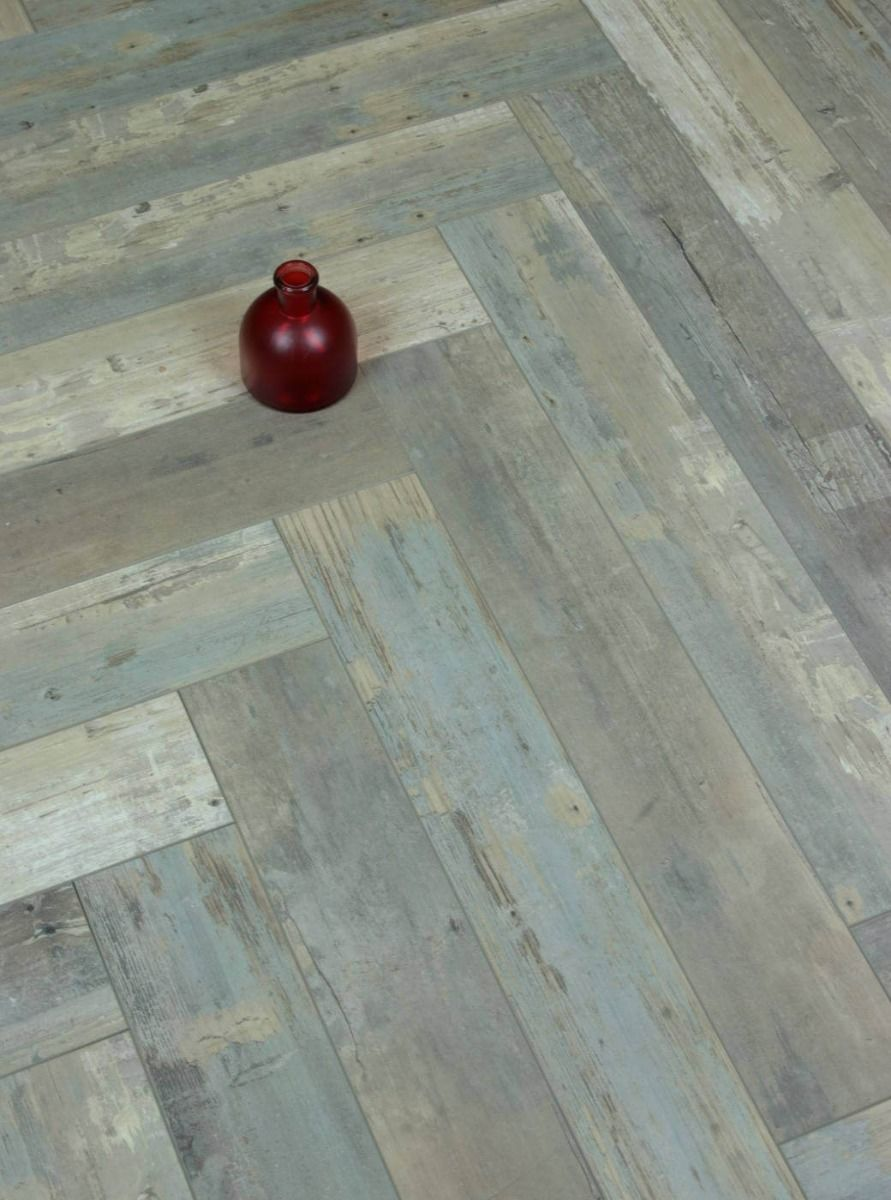Baker Wood Grey Reclaimed Herringbone Laminate