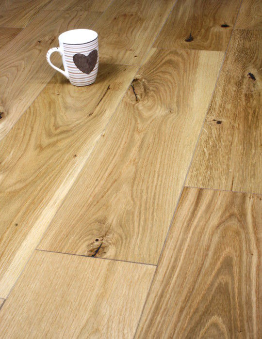 190mm Wide Oak Floor UV Lacquered
