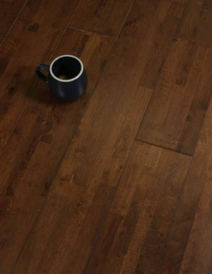 Dark Hevea Wood Flooring