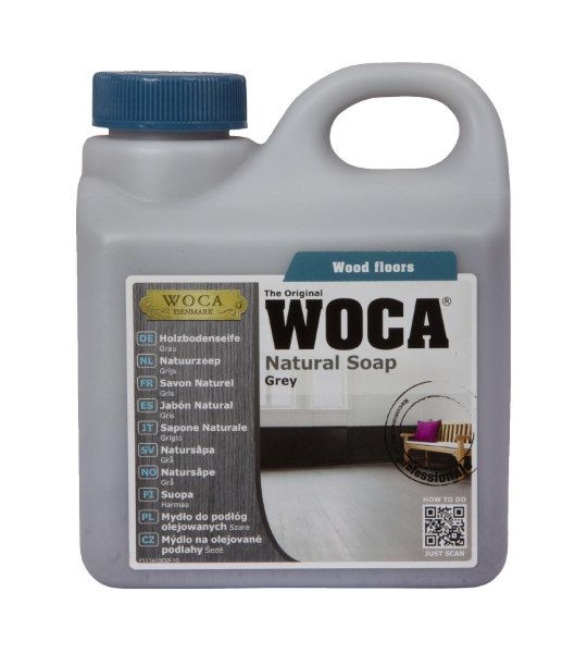 Woca Natural Soap Grey Oiled Wood Floor Cleaner