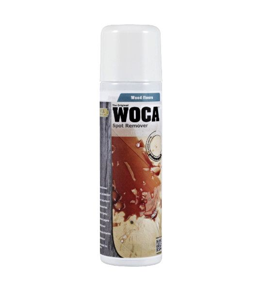 Clean Stains from wood flooring with Woca Spot remover