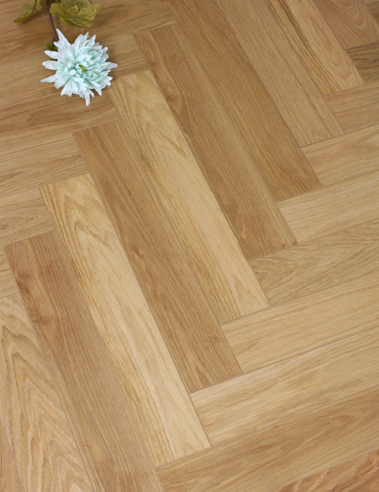 Diamond White Oak Herringbone