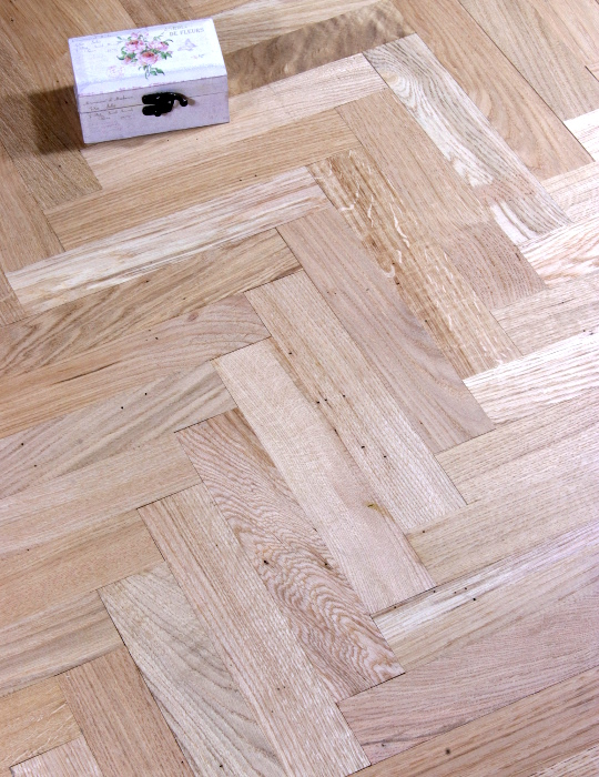 Rustic Oak Solid Parquet - Unfinished