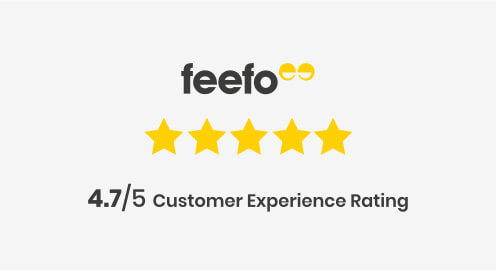 Feefo Rating 4.7 out of 5